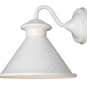 White Outdoor Wall Sconce