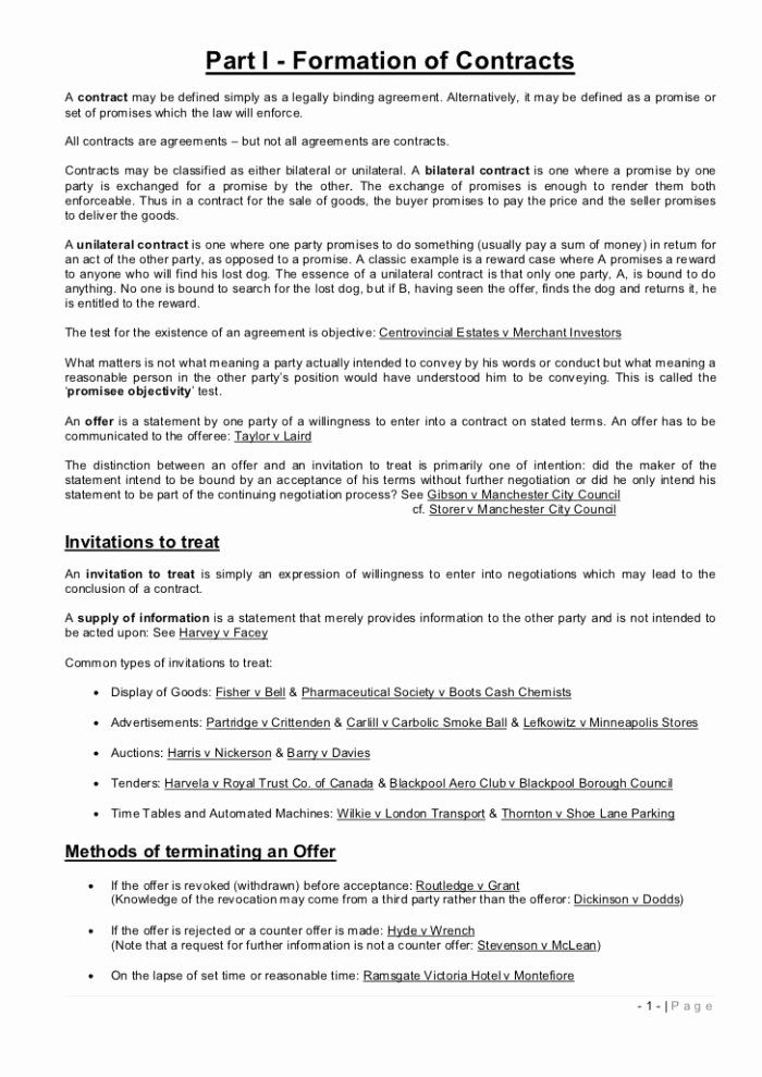 Legally Binding Contract Template Best Of Construction Term And Condition Law Study Note Studying Sample Essays Essay Yale School Personal Statement