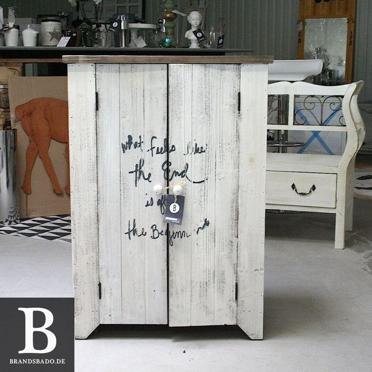 Schrank Kommode natur/weiß mit Print aus Holz Impressionen UVP 249,00€ in Möbel & Wohnen, Möbel, Schränke & Wandschränke   eBay