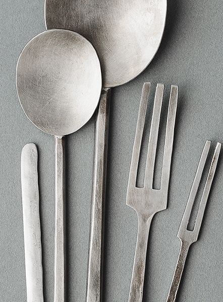 Silver | 銀 | Plata | Gin | Argento | Cеребро | Agent | Colour | Texture | Pattern | Style | Design | nickel silver cutlery by yumi nakamura
