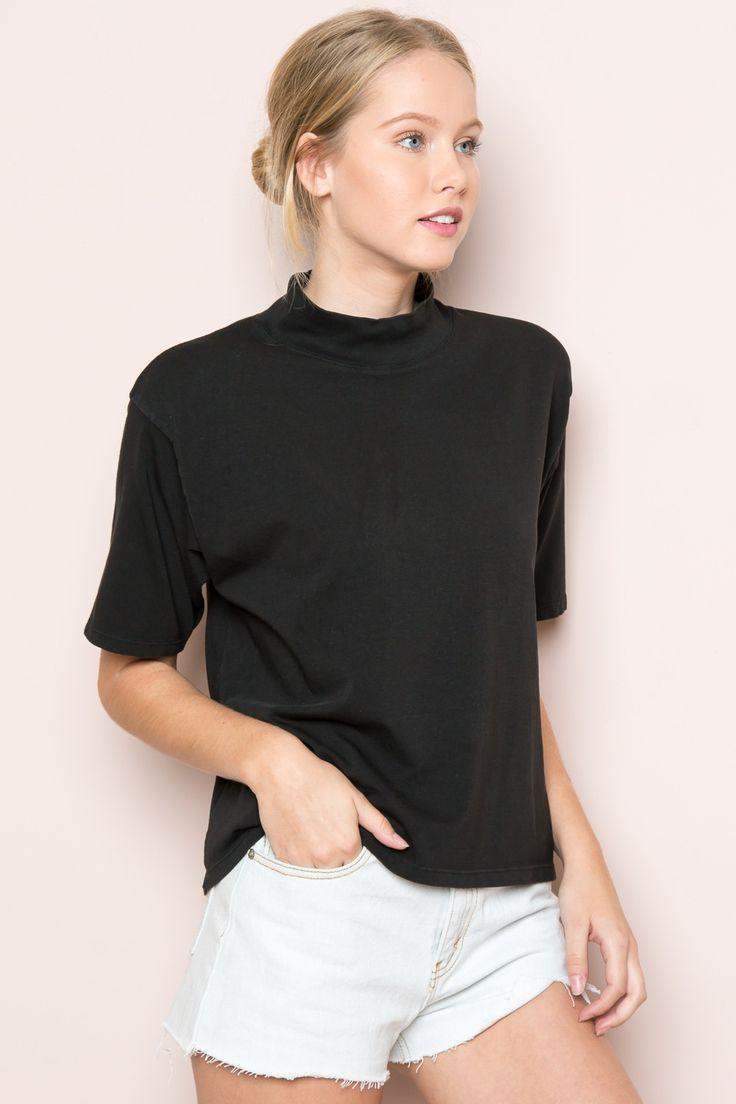 Black t shirt dress brandy melville - Brandy Melville Jack Turtleneck Top