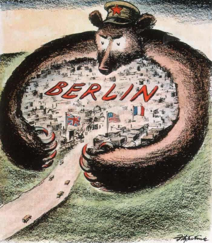 Soviet bear tries to strangle West Berlin, United States (1948)