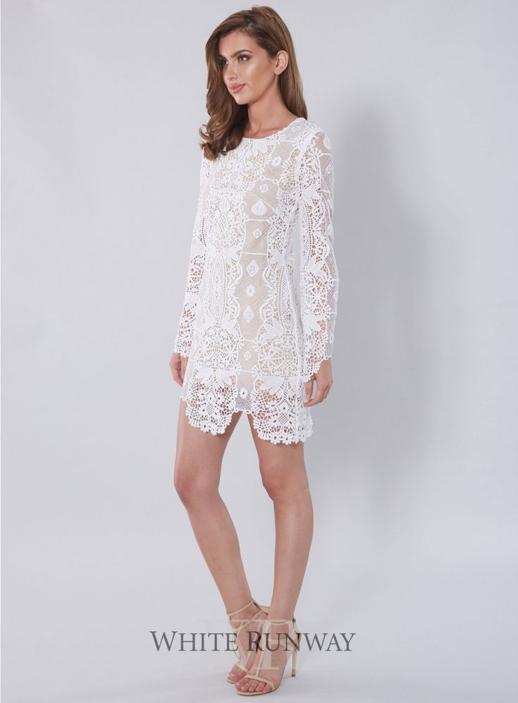 10% off! Lucetta Dress. A stunning mini dress by Winona Australia. Featuring full length flared sleeves and scalloped hem line finished in a luxe lace.