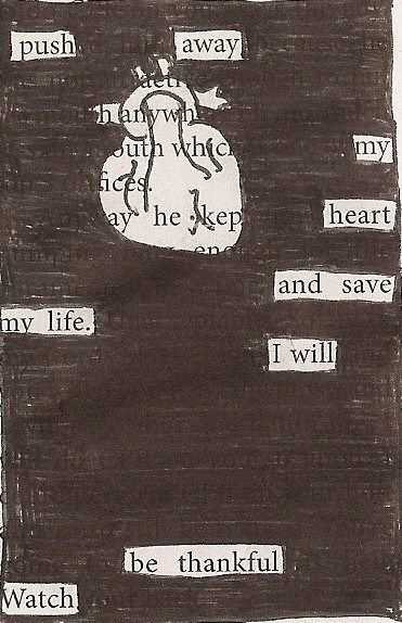 Blackout poem...really cool stuff!