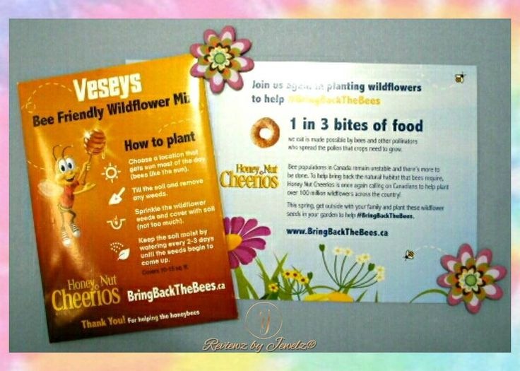 🌼AN UN-BEE-LIEVABLE #FREEBIE  🌐Go to http://bringbackthebees.ca to find out more about the #bringbackthebees program 👍 #Thanks to #VeseysSeeds #GeneralMillsCanada & #Cheerios for the #freesample of #wildflower seeds 🐝 #gotitfree #Ontario #Canada #honeynutcheerios #veseys #veseysseedsltd #generalmills #wildflowers #thankyou 💌Posted by: Reviewz by Jewelz®, @reviewz_by_jewelz on ig  📷Photo Credit & Copyright: Julie Barrett/Reviewz by Jewelz®. All rights reserved.
