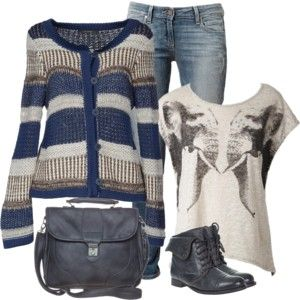 winter outfit  love Cardigans!!!