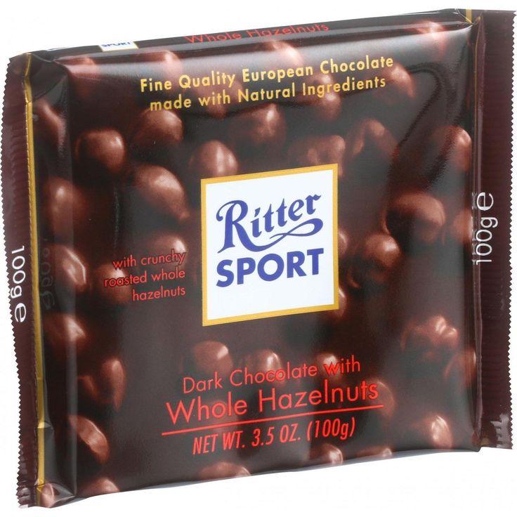 Ritter Sport Chocolate Bar Dark Chocolate Whole