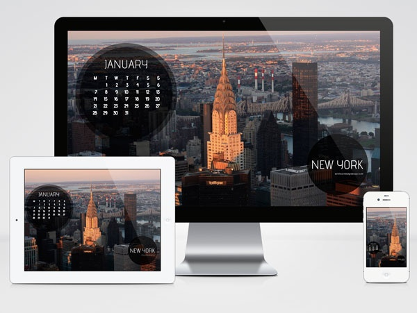 January 2013 Wallpaper Calendar: Empire State Building Sight-view at Sunset   ester liquori design
