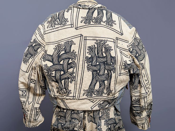 Christopher Nemeth rope pattern linen jacket, 1980s-1990s.