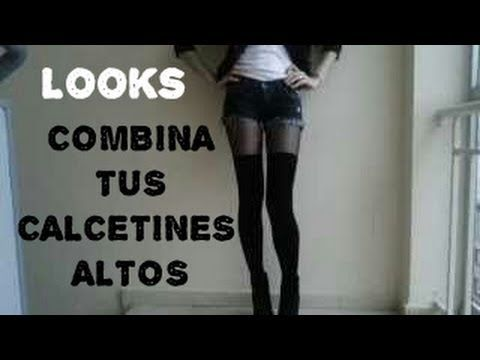 Como combinar calcetines altos #1 LOOKBOOK - YouTube