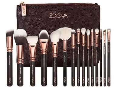 NEW-ZOEVA-15-high-end-fashion-rose-gold-makeup-brush-set-Authentic