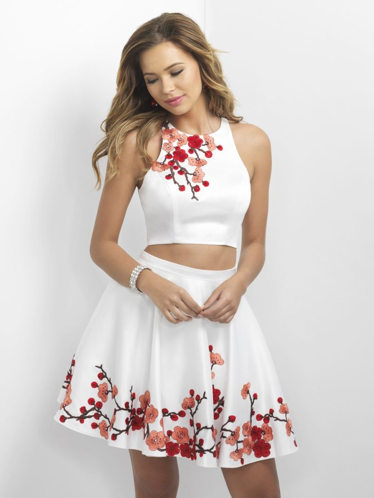 Step off the red carpet in this gorgeous two-piece! Available in White/red and…