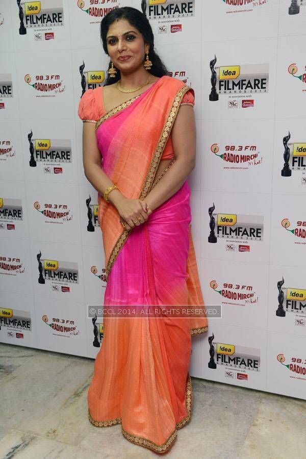 Asha Sarath during the 61st Idea Filmfare Awards South #Style #Kollywood #Tollywood #Fashion #Beauty #Mollywood
