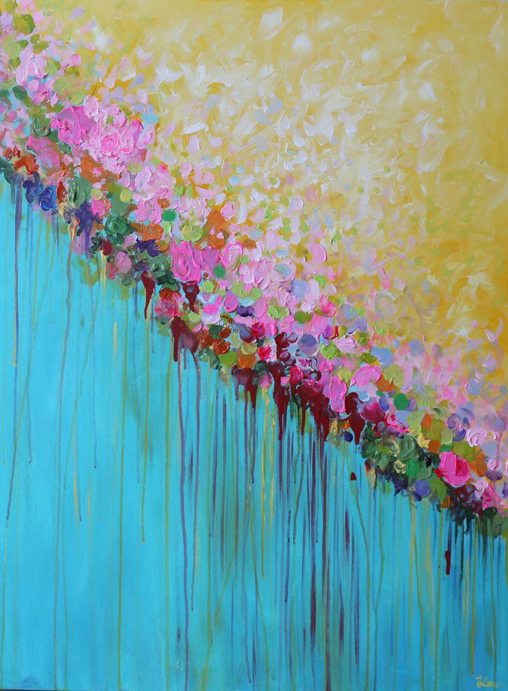 pintura abstracta acrílica pintura contemporánea gran por artbyoak1, $389,00