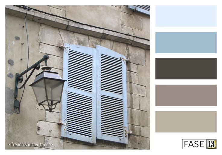#blogpost #colourinspiration ~ French Shutter tones ~ by #FASE13 ~ www.fase13.nl ~ Kleurinspiratie voor je interieur!