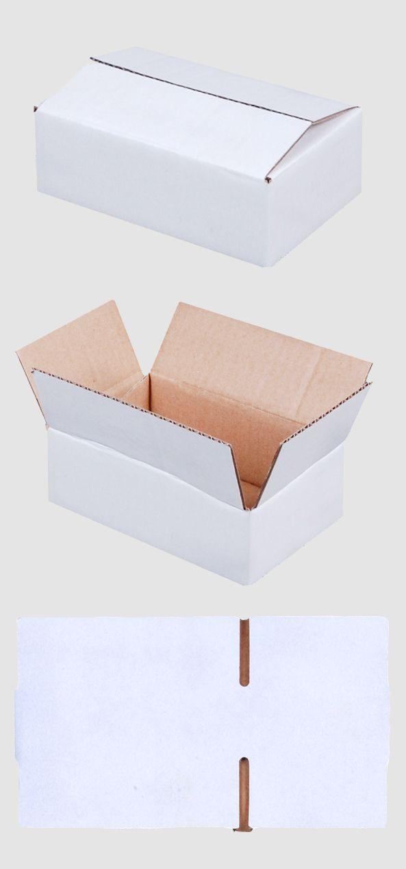 #KARTON - 140 x 90 x 45 mm - Innenmasse, - Stärke / Qualität: (B-Welle, 400 g), - Farbe: WEISS (einseitig), - Menge wählbar,  #Versandschachtel #Faltkarton #Schachtel #Minikarton #Versand #Verpackungsmaterial