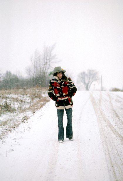 Bob Dylan, Bangor, Maine, 1975. (Ken Regan/Vanity Fair)