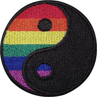 Rainbow Yin Yang Embroidered Iron Sew On Patch Symbol Sign Gay Pride Flag Badge Size 4.8 cm Diameter. How to Iron on a Patch Lay your cloth on a flat, heat-resi