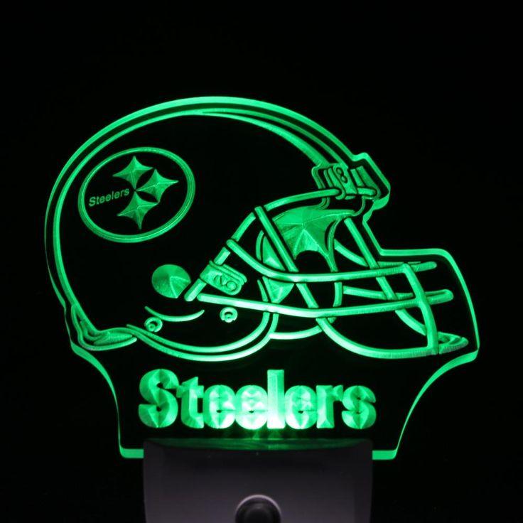 ws0059 Pittsburgh Steelers Helmet Day/ Night Sensor Led Night Light Sign