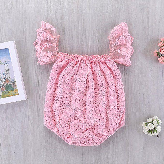 d2c7012dd09f Mikrdoo Newborn Infant Baby Girl Flower White Lace Off Shoulder ...