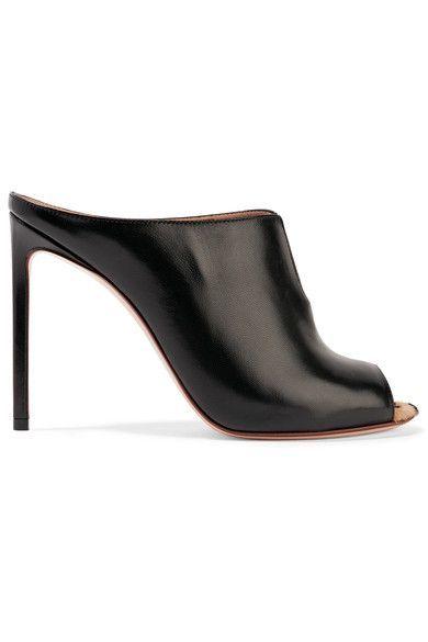 FRANCESCO RUSSO Leopard-print calf hair-trimmed leather mules. #francescorusso #shoes #pumps
