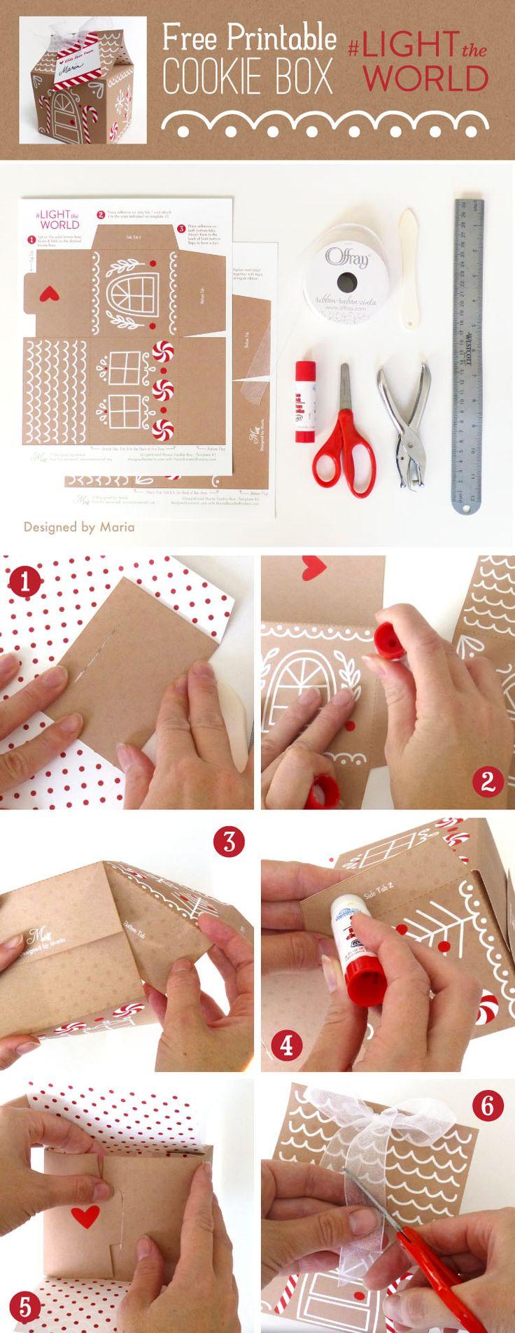 Gingerbread House Printable   Christmas Printables   #lighttheworld