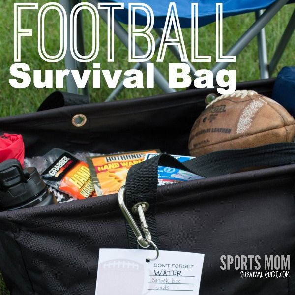 FOOTBALL SURVIVAL BAG ESSENTIALS!! What every parent needs with them at a game or practice.