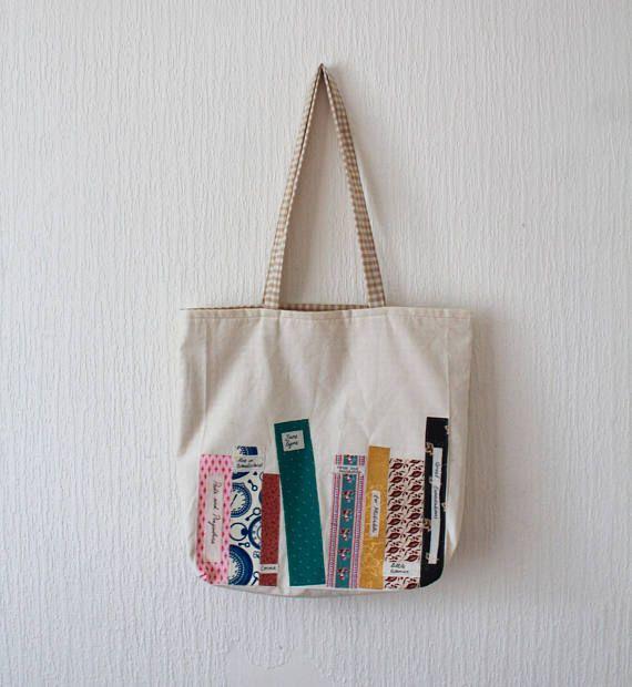 Book Tote Bag Bookmark Me Eco Tote Bag Bookish Quote Tote