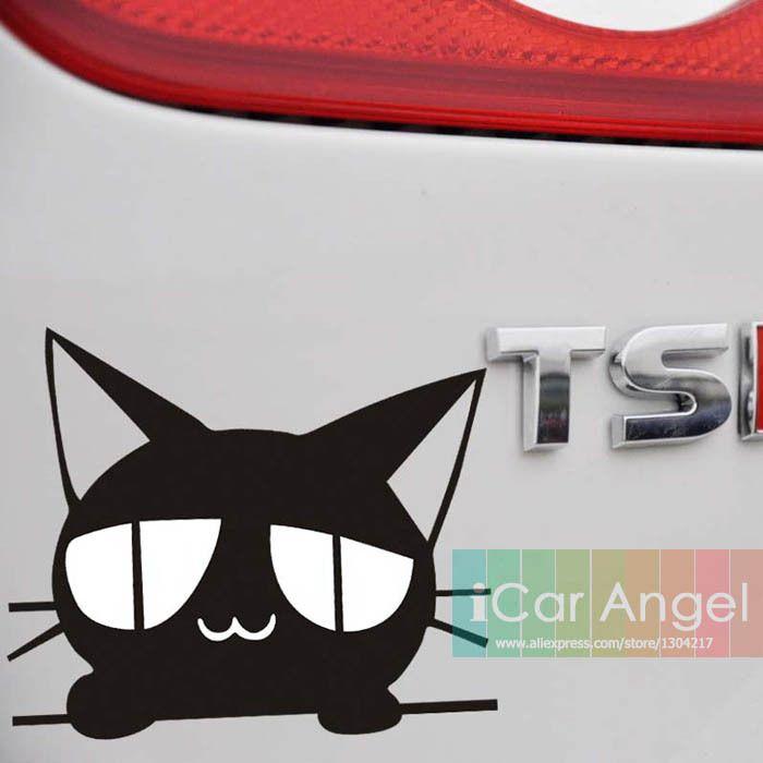 Кот наклейка автомобиля винила наклейка для ноутбука окна стена смешно наклейки чаша кот наклейки виниловые автомобиль наклейка на бампер отражающие авто мультфильм