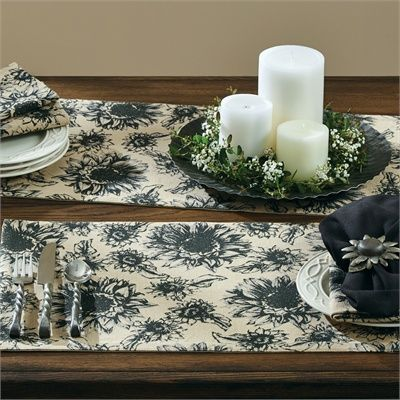 Sunflower Garden Placemat and Table Runner by Park Designs #parkdesigns