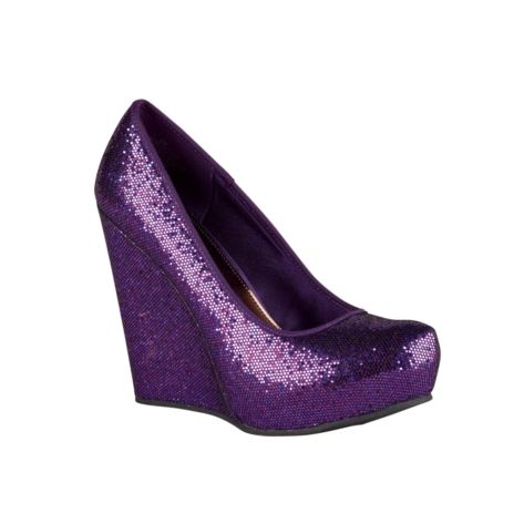 I am pretty sure these belong in my closet - and on my feet. Purple AND glitter?! Oh baby.
