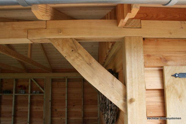 Eikenhouten cottage tuinhuis met veranda.  Ambachtelijk maatwerk met oog voor authentieke details. Stijlvolle natuurlijke uitstraling.   Laat u inspireren door de foto's en vraag vrijblijvend informatie op.  www.vechtdalbouwsystemen.nl tel 064658297