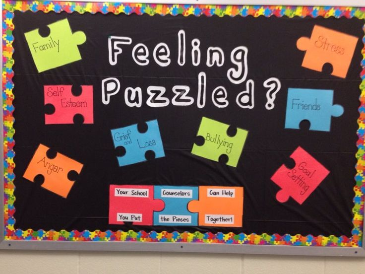 Feeling Puzzled? Your school counselor can help you put the pieces together!