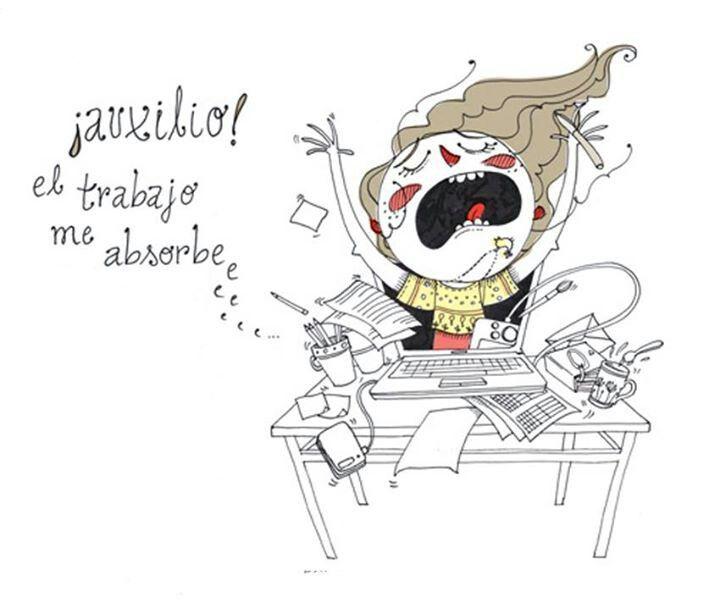 B1/C2 - ¿Te has sentido así alguna vez? ¿Cómo llegaste a esa situación y cómo saliste de ella? [Ilustración de Vero Rodríguez en http://www.mepasaaveces.com/.]