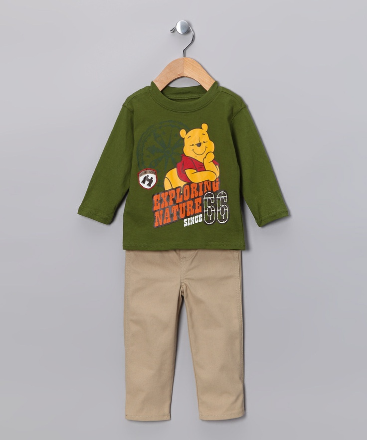 Brown Winnie the Pooh 'Bug Finder' Zip-Up Hoodie Set - Infant | Daily deals for moms, babies and kids $17.99