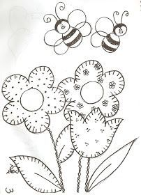 moldes de flores para aplique em tecido - Buscar con Google
