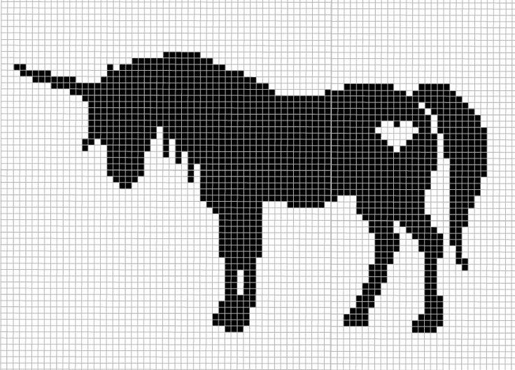 Unicorn Counted Cross Stitch Pattern