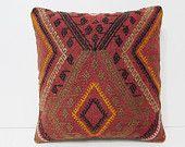 shaman kilim pillow sham contemporary pillow decorative pillow couch throw pillow cover boho decor rustic throw pillow floor cushion 27298