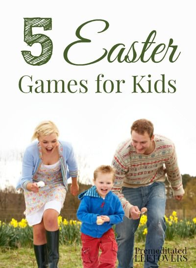 5 Easter Games for Kids - These Easter activities are perfect for keeping kids busy at family gatherings or are great for Kids' classroom Easter parties.
