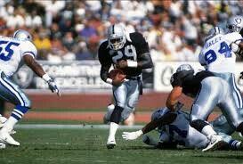 Eric Dickerson Oakland Raiders Los Angeles Raiders Silver and Black