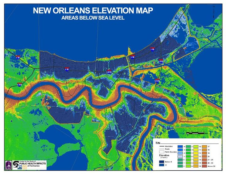 9 best New Orleans Flood Maps and Elevations images on Pinterest