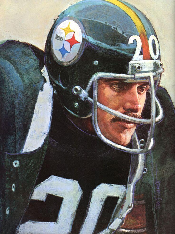 Rocky Bleier, Pittsburgh Steelers Running Back. Portrait by George Gaadt 1980.
