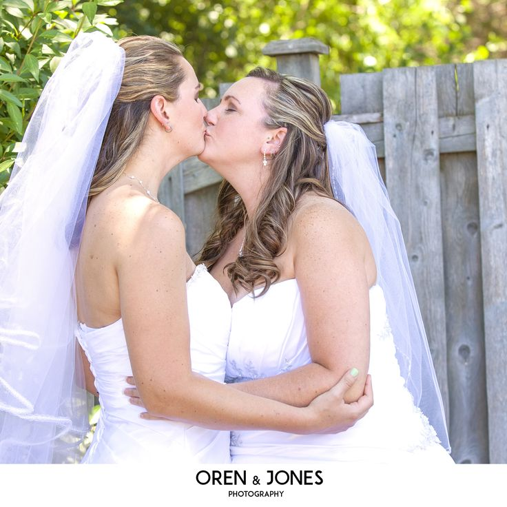A wedding kiss is the most special of kisses. LGBT wedding inspiration by Oren & Jones photography #LGBT #girlsinlove #LesbianWedding #LGTBTravel #GayTravel #KitchenerWeddingPhotographers #CambridgeWeddingPhotographers #LifestylePhotography #samesexwedding #Wedding