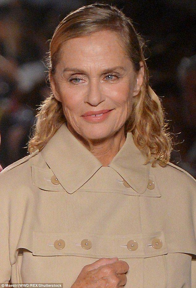 Still stunning: Lauren Hutton walked the runway at the Bottega Veneta show in Milan on Saturday afternoon
