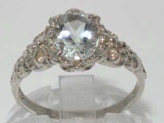 Natural Beautiful Aquamarine Ring Gemstone Ring-925 Sterling Silver Ring