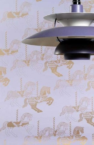 Beautiful dreamy wallpaper idea for little girls rooms!  Fayre's Fair wallpaper - Heather/Gold, Wallpaper for Girls - Home Accessories UK USA Ireland, Home Decor, Gifts, Wallpaper, Fabric – Garrendennylane.com