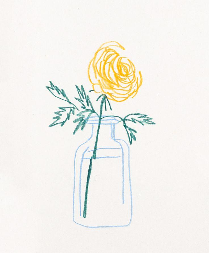 Single Line Drawing Flowers : The best flower line drawings ideas on pinterest