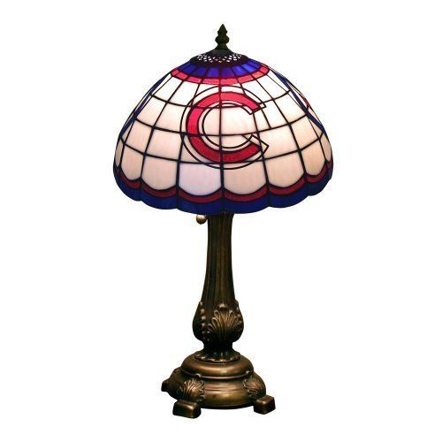MLB Chicago Cubs Tiffany Table Lamp  http://allstarsportsfan.com/product/mlb-chicago-cubs-tiffany-table-lamp/  Stained Glass Table Lamp Hand Cut Stained Glass shade. Featuring team colors, logos