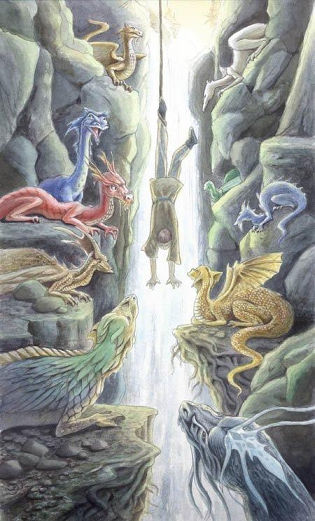 """""""You will come to know that what appears to be a sacrifice will prove instead to be the greatest investment you will ever make."""" — Gordon B. Hinkley   Watercolor by Lisa Hunt, for the Celtic Dragon Tarot"""