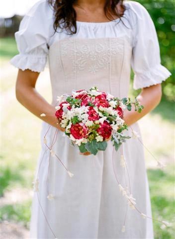 Magyaros esküvői csokor